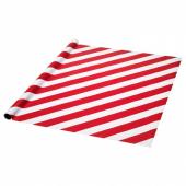 ВИНТЕР 2019 Рулон оберточной бумаги, красный, белый в полоску, 4x1.2 м